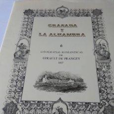Arte: LITOGRAFÍAS DE GRANADA Y LA ALHAMBRA. Lote 159288718