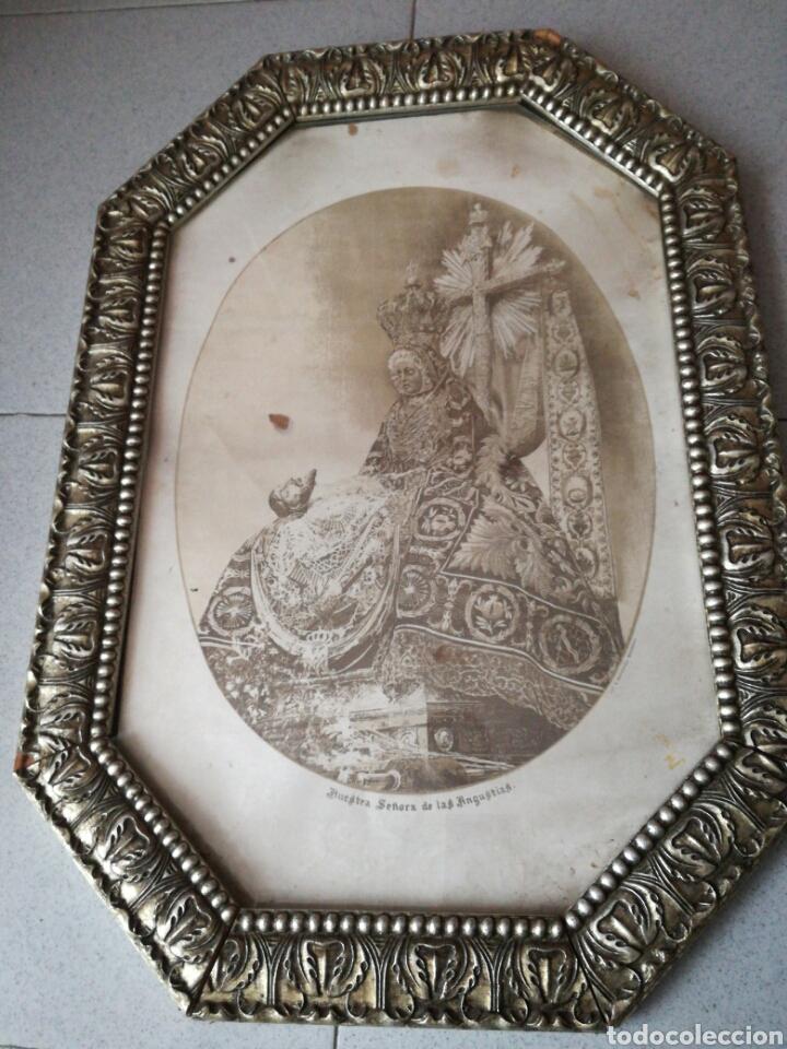 Arte: Antigua litografía N. Sra. De las Angustias de S. Berdones - Foto 3 - 159376726