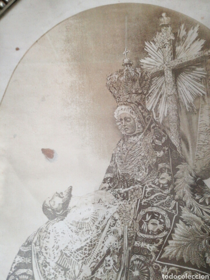 Arte: Antigua litografía N. Sra. De las Angustias de S. Berdones - Foto 4 - 159376726