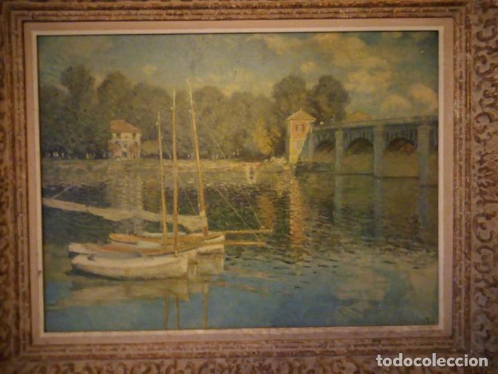 Arte: litografia, claude monet le pont dargenteuil musée de limpressionnisme,paris - Foto 2 - 159419706