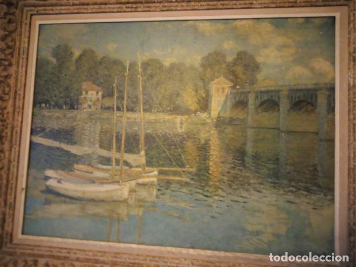 Arte: litografia, claude monet le pont dargenteuil musée de limpressionnisme,paris - Foto 12 - 159419706