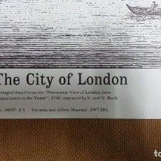 Arte: LITOGRAFIA NUMERADA ,VICTORIA AND ALBERT MUSEUM 0,52 X 0,44 CMS THE CITY OF LONDON . Lote 159682294