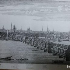 Arte: LITOGRAFIA NUMERADA ,VICTORIA AND ALBERT MUSEUM 0,52 X 0,43 CMS LONDON BRIDGE. Lote 159682922