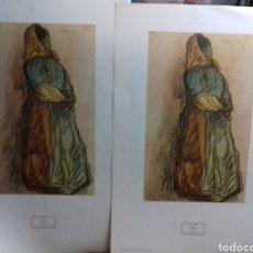 Arte: ISIDRO NONEL. 1 LAMINA GITANA 75 X 50 CMS. Lote 159694974