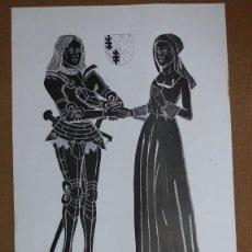 Arte: LITOGRAFIA NUMERADA (SIN MAS DOCUMENTACIÓN ) PARECE INGLESA ,MEDIDAS 48 X 28 CMS . Lote 159698018
