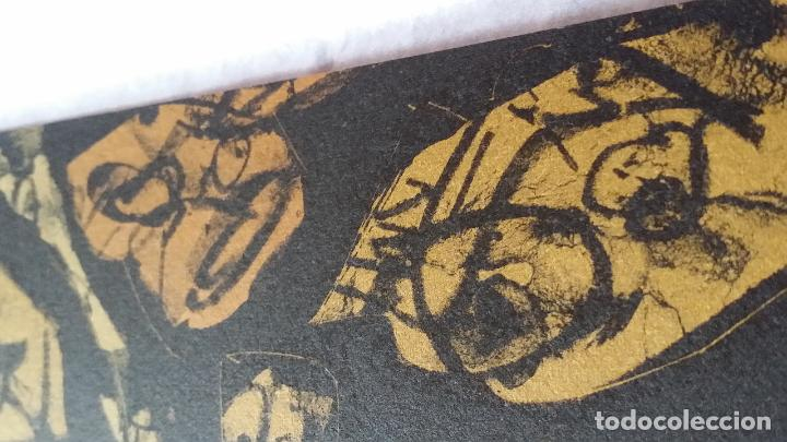 Arte: Antonio SAURA / André Velter: L'enfer et les fleurs 4 / litografía en Archés, 40 ejemplares / 1988 - Foto 3 - 159769846
