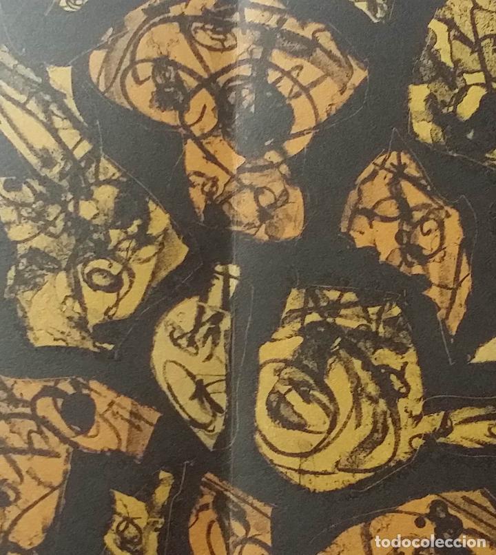 Arte: Antonio SAURA / André Velter: L'enfer et les fleurs 4 / litografía en Archés, 40 ejemplares / 1988 - Foto 9 - 159769846