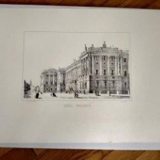 Arte: LITOGRAFÍA REAL PALACIO 50X35. Lote 160486310
