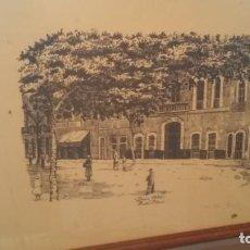 Arte: DENIA HOTEL FORNOS LAMINA NUMERADA. Lote 160585302