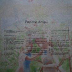 Arte: FRANCESC ARTIGAU. LITOGRAFIA. 1992. TIRAJE 33/99. Lote 160683858