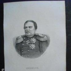 Arte: 1867 MURAWIEW GENERAL Y PRINCIPE RUSO DIBUJADO Y LITOGRAFIADO POR LLANTÁ 33X22 CMS. Lote 39330801