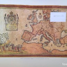 Arte: LITOGRAFÍA OFFSET CHART OF EUROPE AND FRENCH EMPIRE-CON Nº DE SERIE.OIL ON CANVAS-D.L.B.5900. Lote 161560330
