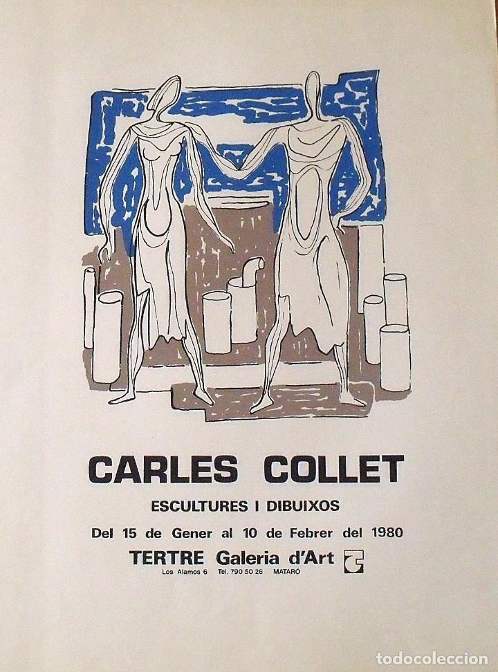 CARLES O CHARLES COLLET. CARTEL LITOGRÁFICO. GALERÍA TERTRE. MATARÓ. ESCULTURES I DIBUIXOS. 1980. (Arte - Litografías)