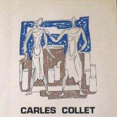 Arte: CARLES O CHARLES COLLET. CARTEL LITOGRÁFICO. GALERÍA TERTRE. MATARÓ. ESCULTURES I DIBUIXOS. 1980.. Lote 162284658