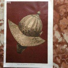 Arte: LITOGRAFÍA DEJ.PALACIOS CASCO DE FERNANDO EL CATOLICO. Lote 162373362