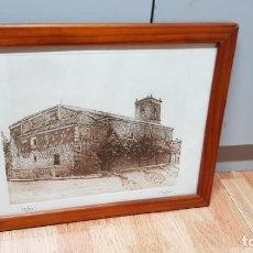 Arte: LITOGRAFIA CASTILLO FIRMADA CASES 17/25. Lote 162386046
