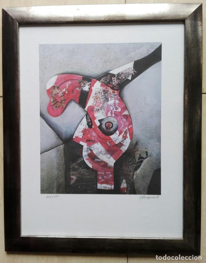JOSEP PUIGMARTÍ - LITOGRAFIA 204 DE 499 - FIRMADA Y ENMARCADA 43 X 35 (Arte - Litografías)