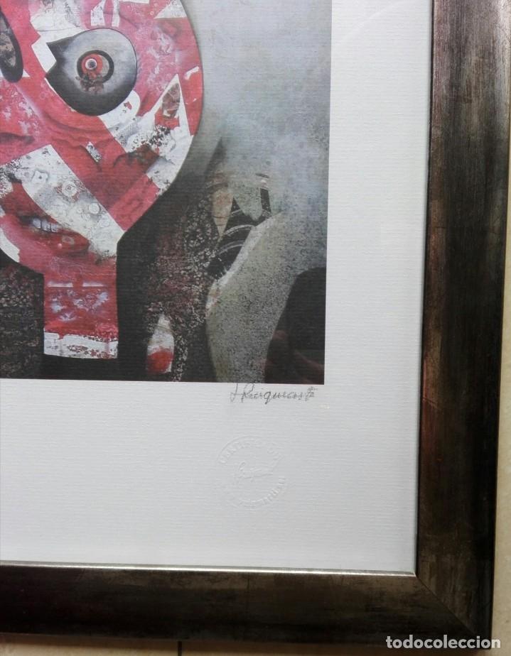 Arte: JOSEP PUIGMARTÍ - LITOGRAFIA 204 DE 499 - FIRMADA Y ENMARCADA 43 X 35 - Foto 2 - 162460192