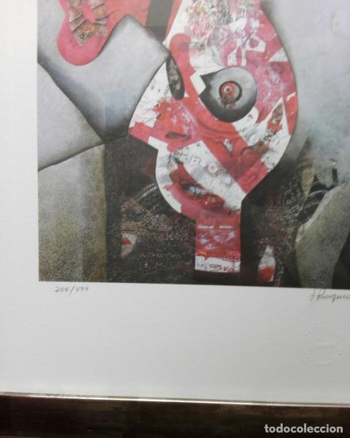Arte: JOSEP PUIGMARTÍ - LITOGRAFIA 204 DE 499 - FIRMADA Y ENMARCADA 43 X 35 - Foto 3 - 162460192