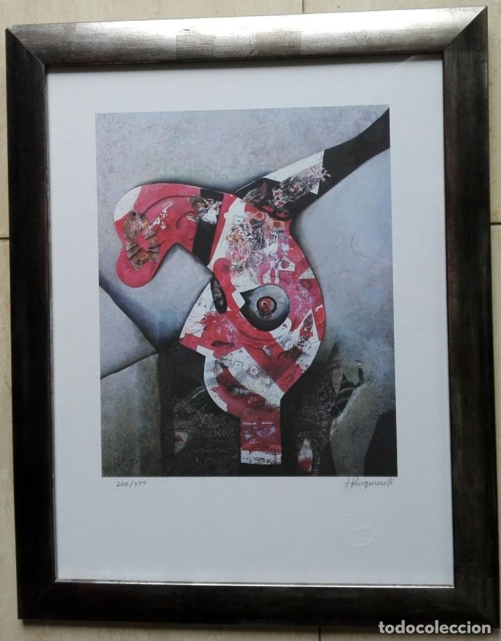 Arte: JOSEP PUIGMARTÍ - LITOGRAFIA 204 DE 499 - FIRMADA Y ENMARCADA 43 X 35 - Foto 5 - 162460192