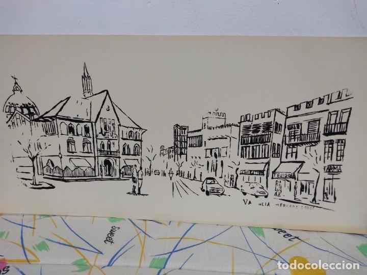 Litografía En Blanco Y Negro Para Colorear Sobre Cartulina Blanca 70 X 33 Cm Lonja Valencia