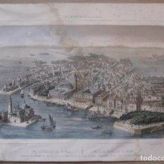 Arte: PORTS DE MER D' EUROPE. VISTA GENERAL DE VENECIA.. Lote 162765606
