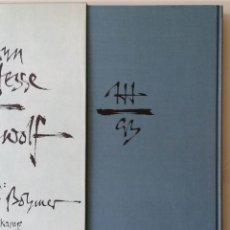 Arte: HERMANN HESSE: EL LOBO ESTEPARIO - LIBRO DE ARTISTA - EDICIÓN NUMERADA.. Lote 163076358
