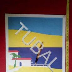 Arte: TUBAL LITOGRAFIA 1984 ERIK DRUMMOND ISLAND RETREAT VERKERKE. Lote 163413694