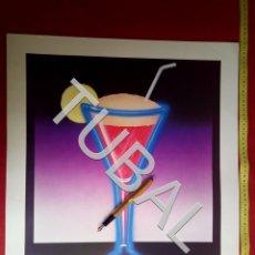 Arte: TUBAL LITOGRAFIA 1984 ATHENA NEON ICE BRIAN ROBSON. Lote 163413862