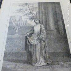 Arte: SANTA CASILDA BRIVIESCA BURGOS LITOGRAFIA HACIA 1850 . CARLOS LEGRAND LITOGRAFO 18 X 26,5 CMTS. Lote 163781202