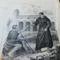 Arte: ALCALA DE HENARES SAN DIEGO DE ALCALA LITOGRAFIA HACIA 1850 CARLOS LEGRAND LITOGRAFO 18 X 26,5 CMTS. Lote 163781530