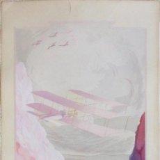 Arte: ERNEST MONTAUT (1879-?). UN MATCH MODERNE, 1909. LITOGRAFIA ENRIQUECIDA CON GOUACHE. ORIGINAL. Lote 164825478