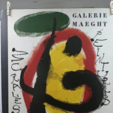 Arte: JOAN MIRO. CARTEL GALERIE MAEGHT. LAMINA LITOGRAFÍA ORIGINAL. CON MATRÍCULA A PIE DE LÁMINAS.. Lote 216364602