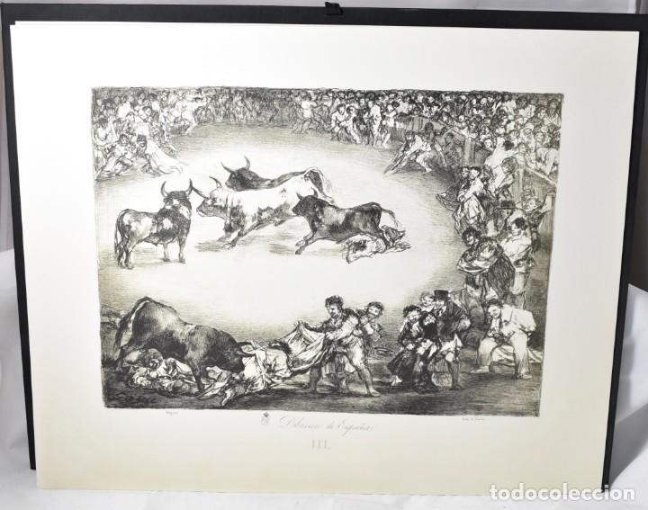 Arte: Edición facsímile de las 4 litografía Los Toros de burdeos de Francisco de Goya. Grabados - Foto 3 - 165067170