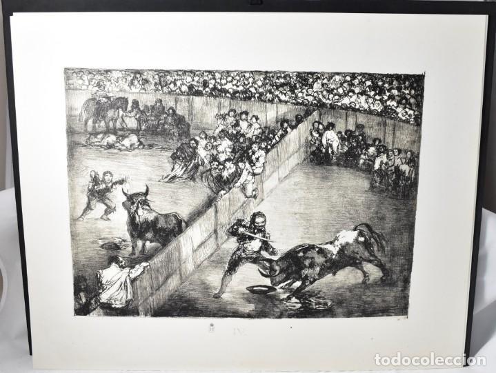 Arte: Edición facsímile de las 4 litografía Los Toros de burdeos de Francisco de Goya. Grabados - Foto 4 - 165067170
