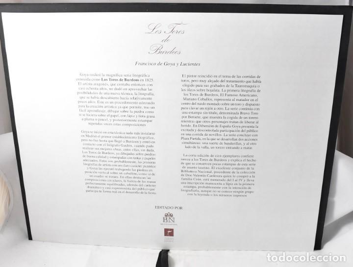 Arte: Edición facsímile de las 4 litografía Los Toros de burdeos de Francisco de Goya. Grabados - Foto 6 - 165067170