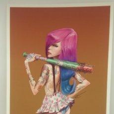 Arte: RAQUEL LOVE HARDY, LOVEHARDY IMPRESIÓN DE EDICIÓN LIMITADA (5/50) ARTISTA RONALD CARRILLO ILUSTRADOR. Lote 165114314
