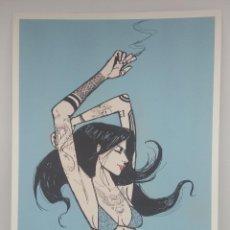 Arte: 'YOUNG, WILD AND FREE' IMPRESIÓN DE EDICIÓN LIMITADA (5/50) ARTISTA RONALD CARRILLO ILUSTRADOR. Lote 165114990