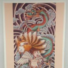 Arte: 'VIRGINIA' IMPRESIÓN DE EDICIÓN LIMITADA (4/50) ARTISTA RONALD CARRILLO ILUSTRADOR. Lote 165115166
