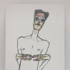 Arte: 'SCHIELE' IMPRESIÓN DE EDICIÓN LIMITADA - ARTISTA MICHELA ROSSI (SHY). Lote 165116254