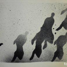 Arte: LITOGRAFIA FIRMADA POR IDENTIFICAR, MEDIDAS 50 X 65 CM, Nº 16/30, HOMENAJE 5 FUSILADOS 1975. Lote 165492746