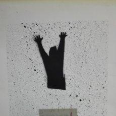Arte: LITOGRAFIA FIRMADA POR IDENTIFICAR, MEDIDAS 50 X 70 CM, Nº 14/30, HOMENAJE 5 FUSILADOS 1975. Lote 165493578
