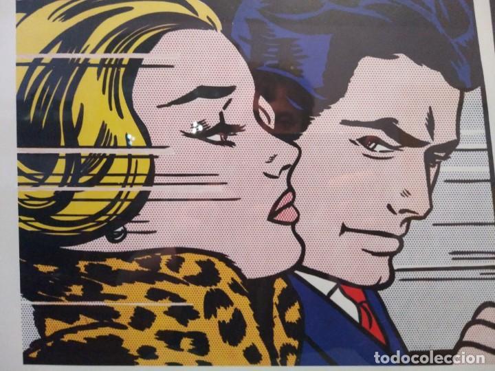 Arte: ROY LICHTENSTEIN, EN EL COCHE, IMPRESIÓN AUTORIZADA Y NUMERADA, VER - Foto 6 - 165558822