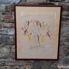 Arte: PICASSO. LITOGRAFIA FIRMADA EN PLANCHA SIN NUMERAR, CIRCULO DE JUVENTUD. PAPEL ARCHES. Lote 176215160