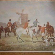 Arte: LAMINA ESCENA DE CAZA CAMPIÑA INGLESA; SIGLO XVIII. Lote 165887354