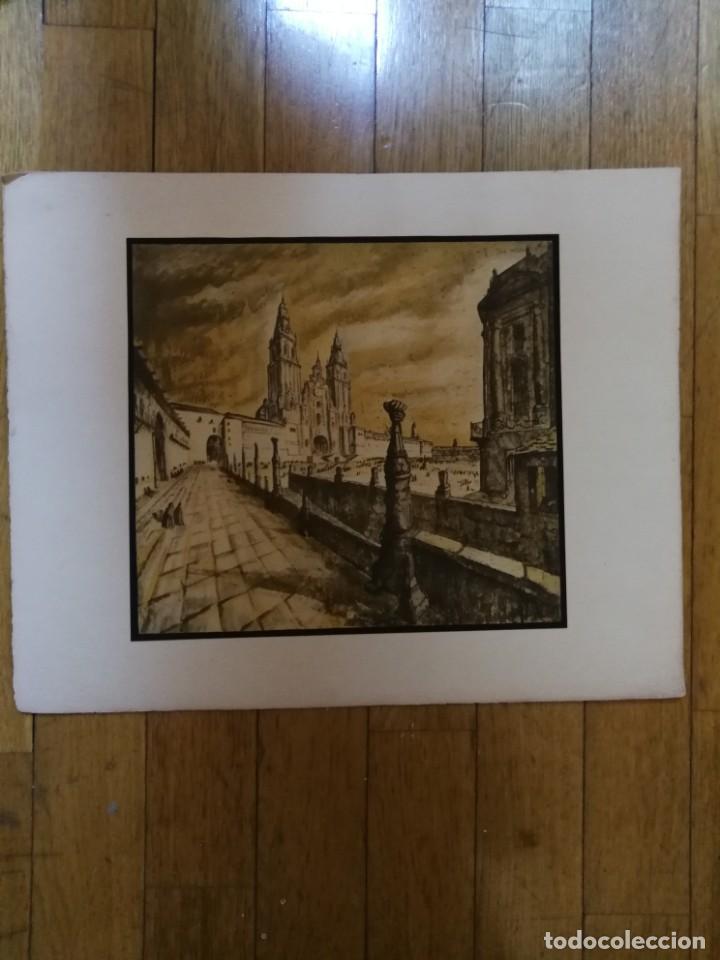 Arte: LITOGRAFIA 1932 SERGE SERGIO ROVINSKY.SANTIAGO D COMPOSTELA.GALICIA.LA ESPAÑA GRANDIOSA Y FANTÁSTICA - Foto 2 - 165959810