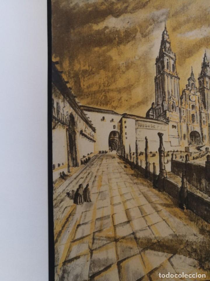 Arte: LITOGRAFIA 1932 SERGE SERGIO ROVINSKY.SANTIAGO D COMPOSTELA.GALICIA.LA ESPAÑA GRANDIOSA Y FANTÁSTICA - Foto 3 - 165959810