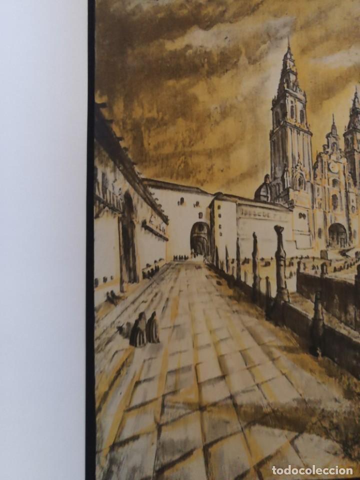 Arte: LITOGRAFIA 1932 SERGE SERGIO ROVINSKY.SANTIAGO D COMPOSTELA.GALICIA.LA ESPAÑA GRANDIOSA Y FANTÁSTICA - Foto 4 - 165959810
