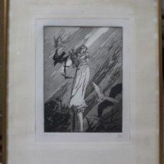 Arte: B-806. LITOGRAFIA FIRMADA Y NUMERADA. S.XX.. Lote 166279306