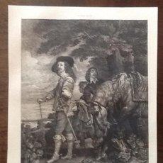 Arte: ANTON VAN DYCK. 1599-1641. LITO FRANCESA. ENVIO INCLUIDO EN EL PRECIO.. Lote 167029768